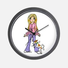 Whippet Honor Student Wall Clock