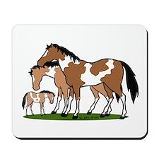 Happy Indian Horses Mousepad