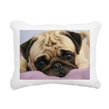 Pug Puppy Rectangular Canvas Pillow