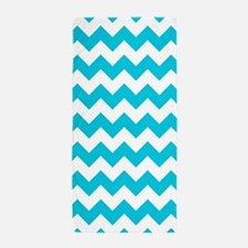 Blue Chevron Beach Towel