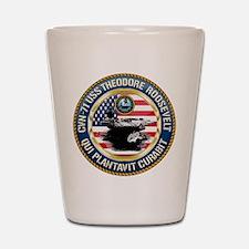 CVN-71 USS Theodore Roosevelt Shot Glass