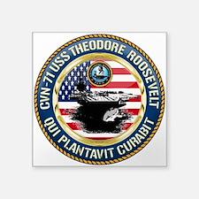 "CVN-71 USS Theodore Rooseve Square Sticker 3"" ..."
