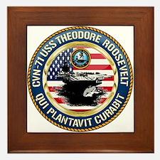 CVN-71 USS Theodore Roosevelt Framed Tile