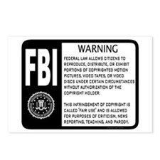 Fair Use Warning Postcards (Package of 8)