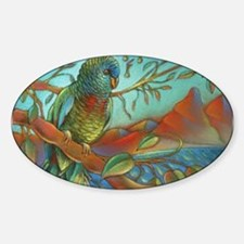 St Lucia Parrot Sticker (Oval)
