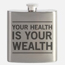 Your health is your wealth Flask