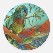 St Lucia Parrot Round Car Magnet