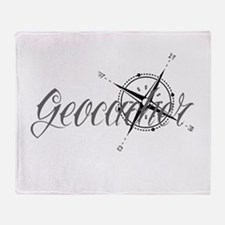 Geocaching Tattoo Compass Throw Blanket