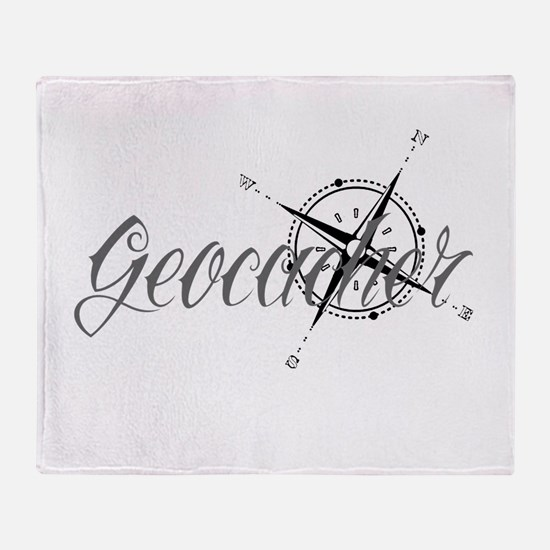 Geocaching Tattoo Compass Throw Blanket