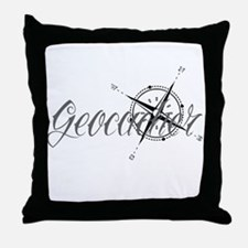 Geocaching Tattoo Compass Throw Pillow