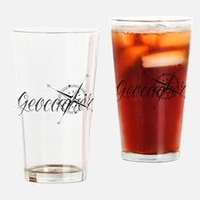 Geocaching Tattoo Compass Drinking Glass