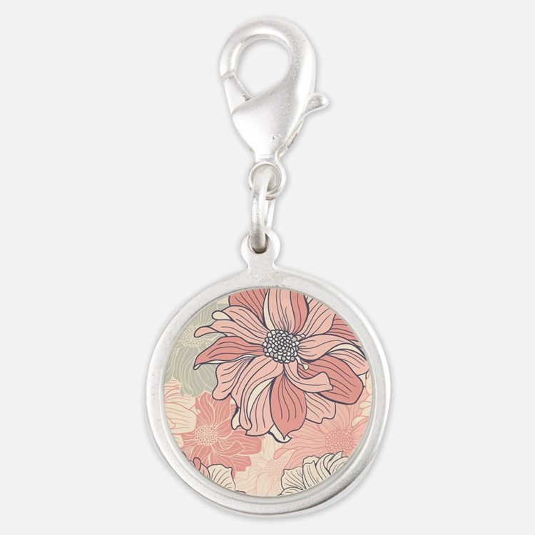 Vintage Floral Charms
