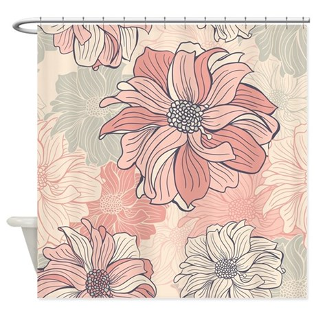 Vintage Floral Shower Curtain By FuzzyChair