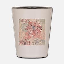 Vintage Floral Shot Glass