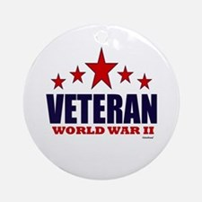 Veteran World War II Ornament (Round)