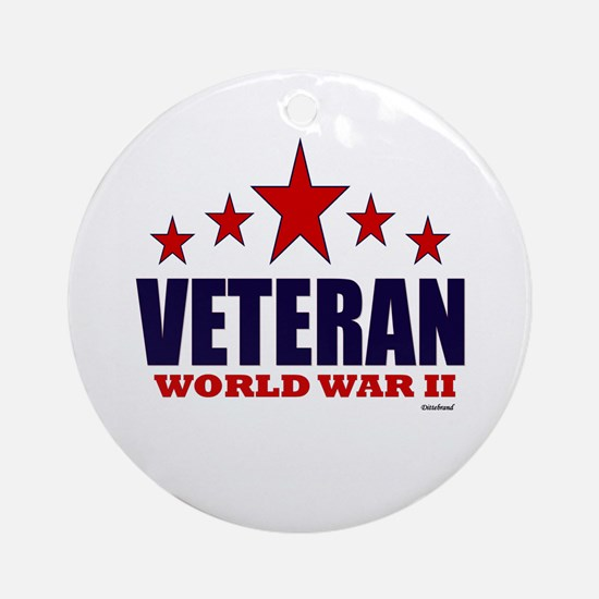 Veteran World War II Ornament (Round)