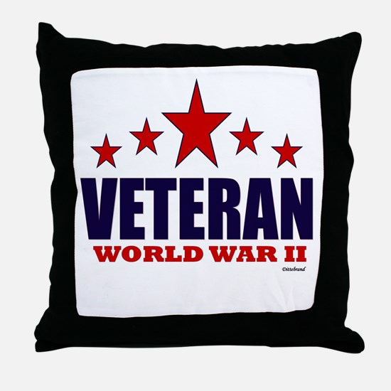 Veteran World War II Throw Pillow