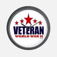 Veteran World War II Wall Clock