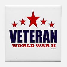 Veteran World War II Tile Coaster