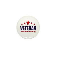 Veteran World War II Mini Button (100 pack)