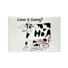 Cartoon Cow Rectangle Magnet (100 pack)