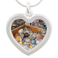 Hoarders Silver Heart Necklace