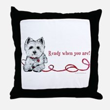 Westhighland White Terrier Re Throw Pillow