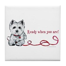 Westhighland White Terrier Re Tile Coaster