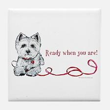 Westhighland White Terrier Re Tile Coaster
