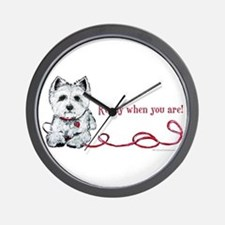 Westhighland White Terrier Re Wall Clock