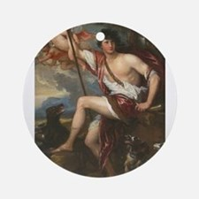 Vintage Paintng of Adonis Ornament (Round)