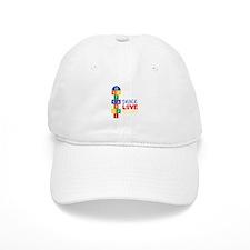 Peace Love Hopscotch Baseball Baseball Cap