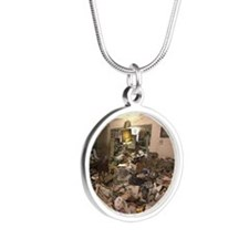 Hoarders Silver Round Necklace