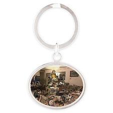 Hoarders Oval Keychain