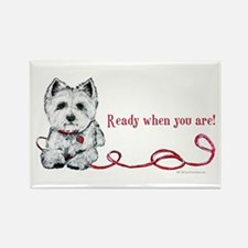 Westhighland White Terrier Re Rectangle Magnet