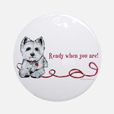 Westhighland White Terrier Re Ornament (Round)