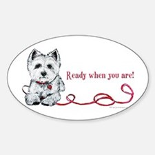 Westhighland White Terrier Re Oval Decal