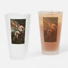 Vintage Paintng of Adonis Drinking Glass