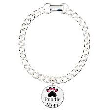 Poodle Mom Paw Print Bracelet