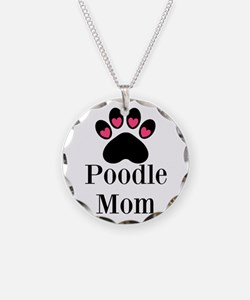 Poodle Mom Paw Print Necklace