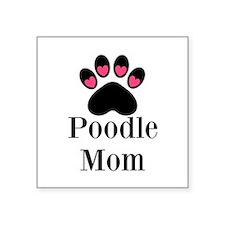 Poodle Mom Paw Print Sticker