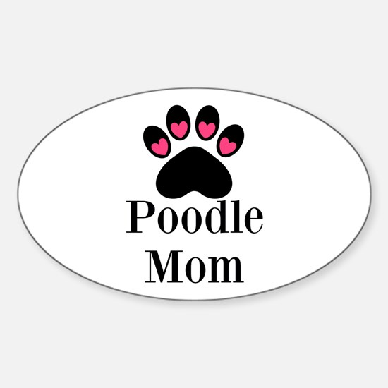 Poodle Mom Paw Print Decal