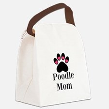 Poodle Mom Paw Print Canvas Lunch Bag