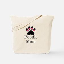 Poodle Mom Paw Print Tote Bag