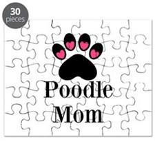 Poodle Mom Paw Print Puzzle
