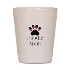 Poodle Mom Paw Print Shot Glass