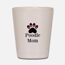 Poodle Mom Paw Print Shot Glass