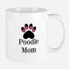 Poodle Mom Paw Print Mugs