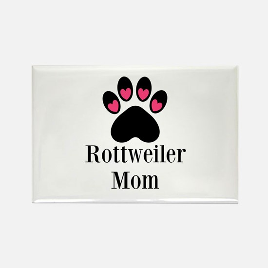 Rottweiler Mom Paw Print Magnets