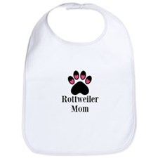 Rottweiler Mom Paw Print Bib